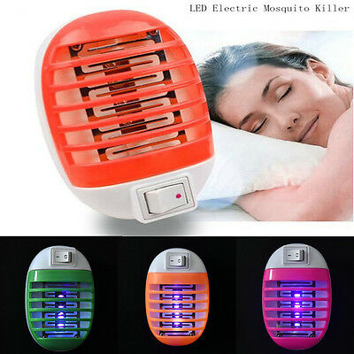 Electric LED USA Plug Mosquito Fly Pest Bug Insect Trap Zapper Killer Lamp Night