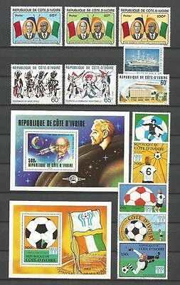Cote D`ivoire 1978-1979 Nice Selection Mnh ** 60+ Stamps