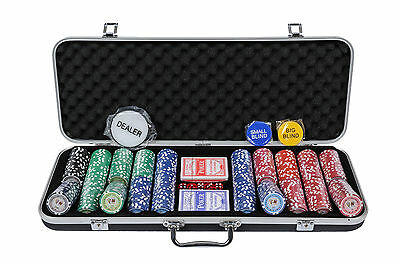 PRE-ORDER: Tournament Poker Chips 500 Piece Numbered Poker Set Free Extras 11.5g
