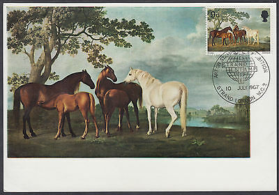 1967 British Paintings 9d Maximum Card 'FDC'; Art on Stamp Exhibition London SHS