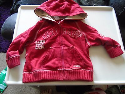 Baby boy's red hoody from Next 9-12 months