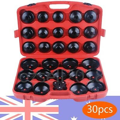 New Cup Type Oil Filter Wrench 30pcs Tool Set Removal Socket Kit