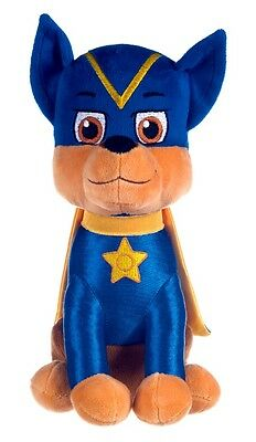 """New Official 12"""" Paw Patrol Superhero Chase Pup Plush Soft Toy Nickelodeon Dogs"""