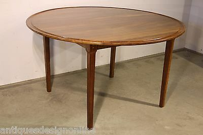 Vintage solid rosewood DINING TABLE seats 6-8 Danish era superb quality original