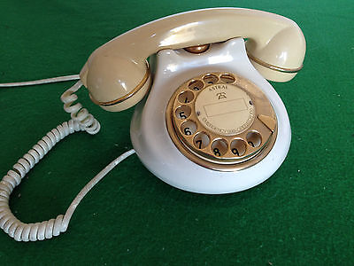 vintage Astral Telecom 'pottery' rotary dial phone (land line)