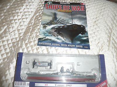 issue 1 of SHIPS OF WAR collection boxed with magazine YAMATO 1945 JAPAN