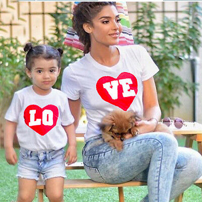 Summer Family T-Shirts Mother and Daughter Baby Girls Clothes Matching