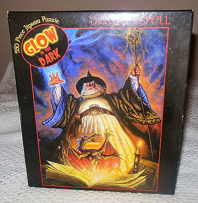 Ceaco Glow in the Dark Dragon Spell 550 Piece Jigsaw Puzzle NEW