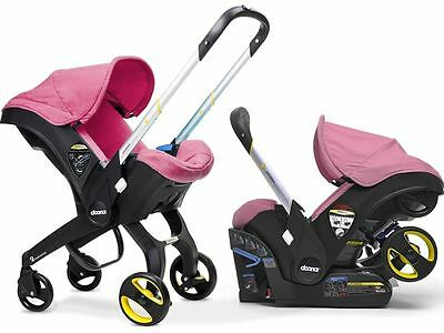 Doona Infant Baby Car Seat Travel Stroller Pink Sweet FREE ALL DAY BAG NEW