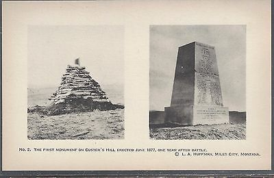 Early 1900's Photo PostCard Little Bighorn Battlefield Monuments Custer