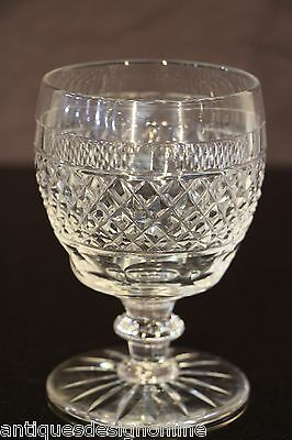 Large antique crystal toasting GOBLET Scottish cut glass Rummer wine whisky 1832