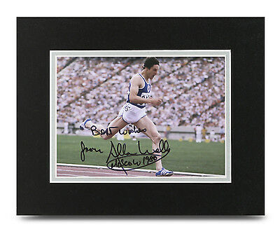 Allan Wells Signed 10x8 Photo Display 100m Olympics Memorabilia Autograph + COA