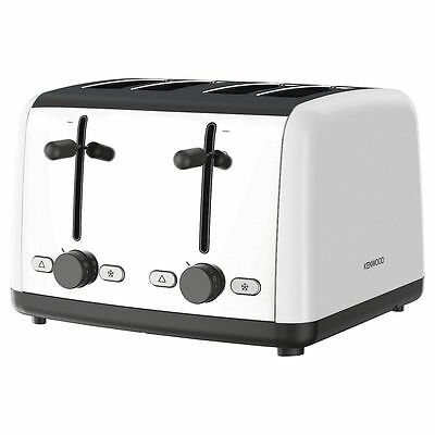 New Kenwood TTM480WH 4 Slice Toaster White 1800W Adjustable Browning Control