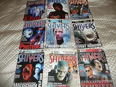 HORROR film magazine SHIVERS - 9 issues- from issue among 16 to 55