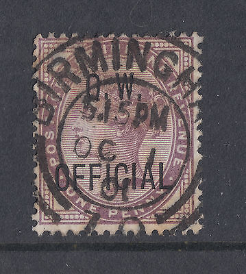 1896 GB QV used 1d Office of Works Official ovptd stamp (SG O33) CAT £150