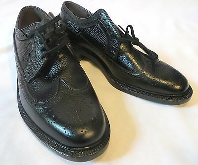 Vintage Mens Weyenberg Wing Tip Oxford Shoes Dead Stock 9 C