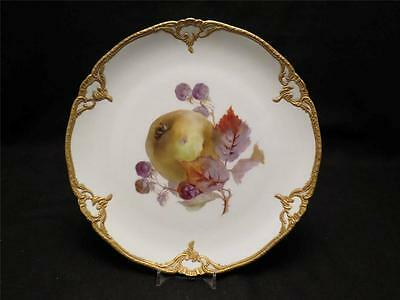 KPM Berlin German Porcelain Fruit Plate~Highest Quality~High Relief Gold Gilding