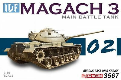 Dragon Plastic Model Kit - IDF Magach 3 Main Battle Tank - 1:35 Scale - 3567