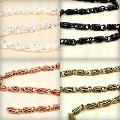 2m 6.56feet Open Link Unfinished Curb Chain Bulk Necklace Jewelry Makings HC