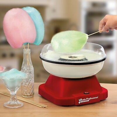 Cooks Professional Electric Cotton Candy Floss Maker Sugar Machine Retro NEW