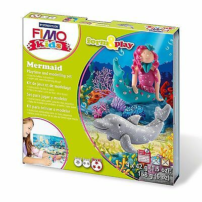 Fimo Kids Mermaid Form and Play Clay Set - Includes 4 Fimo Kids Clays