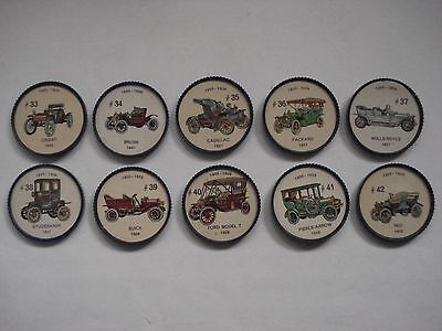 Jell-O Promotion Lot Of 10 Different Plastic Coins Car  Vintage Lot # 4