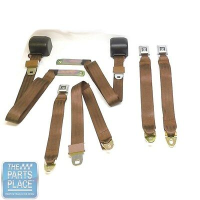 1978-88 GM G Body Cars Factory Style Front Bucket Seat Belts - Pair - Tan