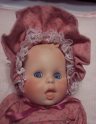 "Rare Bisque/Porcelain Gerber 9"" Baby Doll Adorable Outfit & Crochet Booties GUC"
