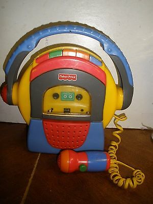 Fisher Price Tuff Stuff Cassette Tape Player Recorder Microphone 1999 *TESTED*