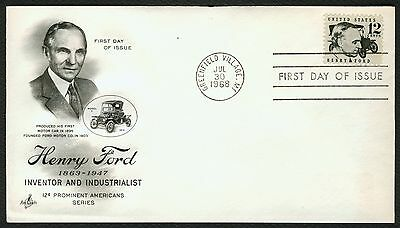 #1286A 12c Henry Ford, Art Craft FDC **ANY 4=FREE SHIPPING**