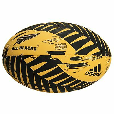 adidas All Blacks Graphic Rugby Union Ball Natural Rubber Yellow - Size 5