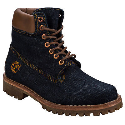 Mens Timberland Heritage 6 Inch Denim Boots Denim - Laces - Protective Coating