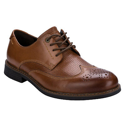 Mens Rockport Classic Break Wing Tip Shoes In Tan-Lace Fastening-Cushioned