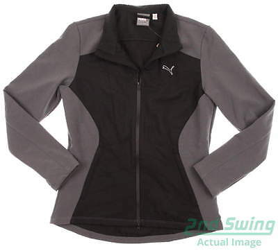 New Womens Puma Stretch Fill Golf Jacket Small Gray Black Warm Cell 569083