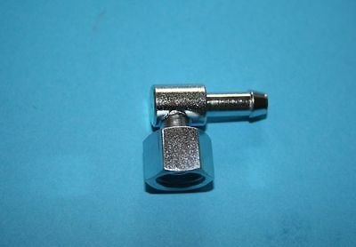 Fuel Pipe Metal 90 Degree Elbow 1/4  With 1/4 Gas Thread Nut