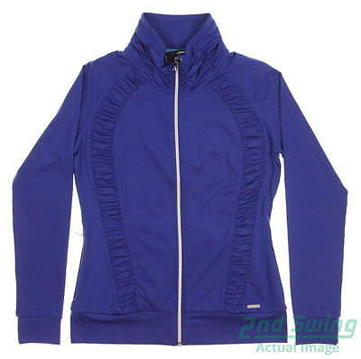 New Womens SUNICE Golf Full Zip Jacket Medium M Blue MSRP $110 S72500