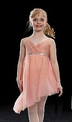 PEACH Thoughtful Moments Lyrical Dance Costume Child XS and Adult XL