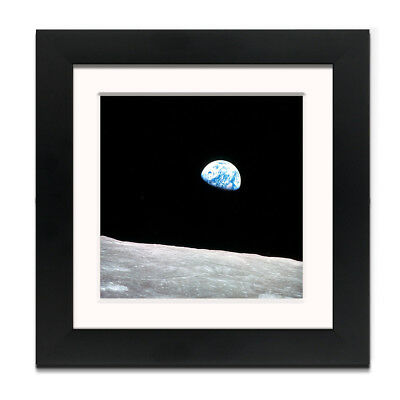 Earth Rising – Street Art – Professionally Framed Square art print with mount