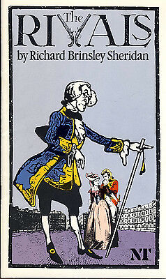 The Rivals by Richard Brinsley Sheridan 1983 NT Theatre Programme TIM CURRY r...