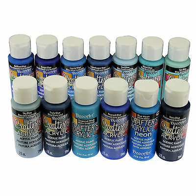 DecoArt Crafter's All Purpose Acrylic Paint 59ml - Blue Colours