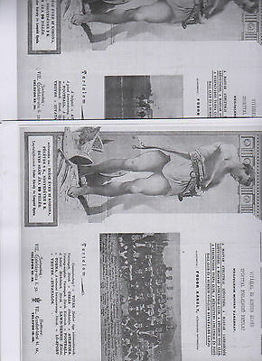 Woolwich Arsenal  Friendly Matches May 1907 In  Budapest Unusual Items Pre & Rev