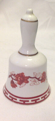 Coalport Indian Tree Fine Bone China Bell Red & White Made In England No Clapper