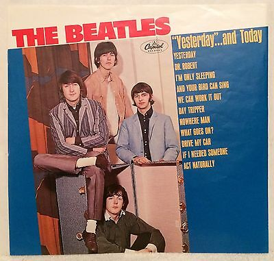 "Beatles ""yesterday""...and Today"" Mega-Rare U.s. Alternate Trunk Lp Cover Slick!!"