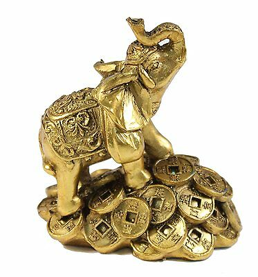 "Feng Shui 3"" Money Elephant Figurine Wealth Lucky Figurine Gift & Home Decor"