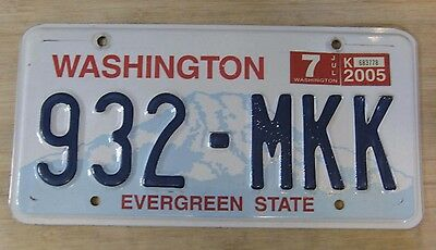 2005 Washington License Plate Expired 932 Mkk