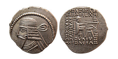 PCW-PA1384-KINGS OF PARTHIA, Vologases I. AD 58-77. Silver Drachm. Lovely Strike
