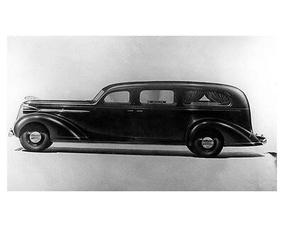 1937 Nash Chassis Miller Hearse Factory Photo ub4141