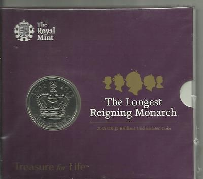 Royal Mint - Longest Reigning Monarch 2015 £5 Coin Presentation Pack