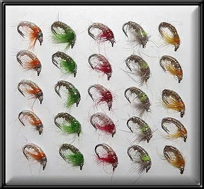 25 CZECH NYMPHS BRAND NEW TROUT FISHING WET FLIES FLY LURES for rod reel line X