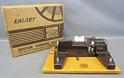 IOB Vintage Kalart EV-8 Editor Viewer Eight 8mm Movie Film Viewer/Splicer